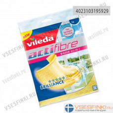 Тряпка Vileda Actifibre 2in1 для окон 1шт