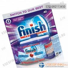 Таблетки Finish для посудомоечной машины 40шт + чистящее средство 250мл