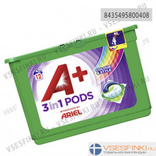A+ Ariel 12шт 3in1 Pods Color