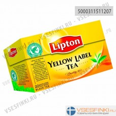 Чай Lipton Yellow Label 20 пак
