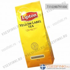 Чай Lipton Yellow Label крупнолистовой 150гр