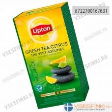 Чай Lipton зеленый цитрусовый 25 пак