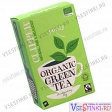 Чай Clipper органический зеленый чай 26 пакетиков