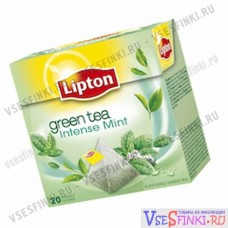 Чай Lipton Green Mint зеленый чай 20пак
