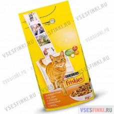 Купить корм FRISKIES для вз.кошек (курица-овощи) 2кг