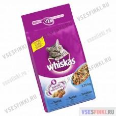 Сухой корм для взрослых кошек WHISKAS (говядина)-1,75кг