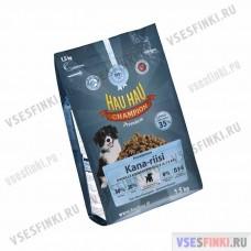 Корм Hau-Hau для молодых собак (Курица-рис) 1,5кг