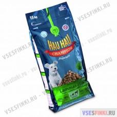 Купить корм Hau Hau для всех собак (Баранина-рис) 15кг