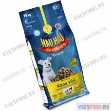 Cухой корм Hau Hau для взрослых собак (Курица-рис) 15кг