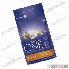 PURINA ONE корм для кошек (Курица-злаки) 1,5кг