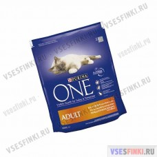 PURINA ONE корм для кошек (Курица-злаки) 800гр