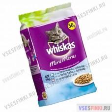 Корм для кошек Whiskas MiniMenu 6шт. по 50гр.