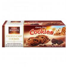Печенье Feiny Biscuits с кусочками из шоколада и молочного шоколада, 135 г