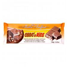 Шоколад Maitre Truffout молочный с воздушным рисом, 150 г