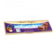 Шоколад Maitre Truffout молочный с дробленым фундуком и изюмом, 300 г