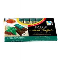 Шоколад Maitre Truffout темный с мятным вкусом в мини-батончиках, 100г