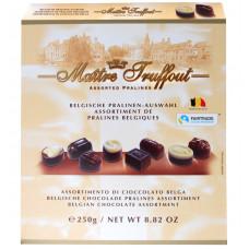 Конфеты шоколадные Maitre Truffout  бельгийское пралине ассорти, 250 г
