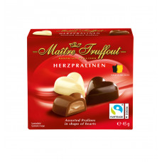 Конфеты шоколадные Maitre Truffout ассорти «Мини-сердца», 45 г