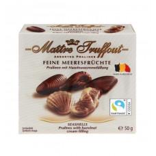 Шоколадные мини-конфеты Maitre Truffout  «Дары моря» с ореховой начинкой, 50 г