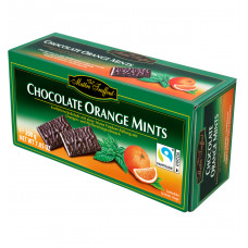 Темный шоколад Maitre Truffout с мятной начинкой с апельсином 200 г