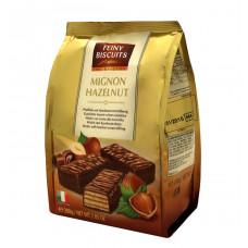 Вафли Feiny Biscuits с орехово-кремовой начинкой в какао-глазури, 200 г