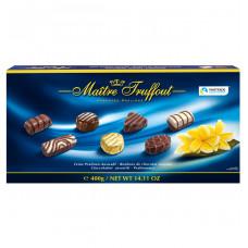 Конфеты шоколадные Maitre Truffout Ассорти пралине (синие), 400 г