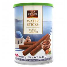 Вафельные трубочки Feiny Biscuits с какао-ореховой начинкой, 400 г