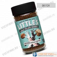 Растворимый кофе:  Little`s Кокос 50 гр