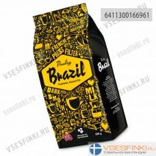 Кофе в зернах: Paulig Brazil Tumma Paahto 500гр