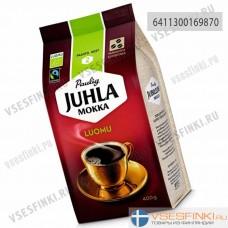 Кофе в зернах: Paulig Juhla Mokka Luomu 400гр