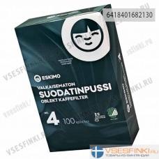 Фильтры для кофе: Eskimo №4 100шт (Небеленые)