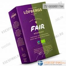 Молотый кофе: Lofbergs Lila Fair Morkrost 450гр