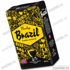 Молотый кофе: Paulig Brazil Tumma Paahto 450г. Купить