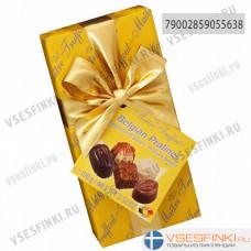 Шоколадные конфеты Maitre Truffout Бельгийское пралине 100гр (Желтая)