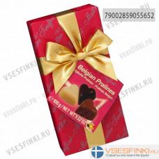 Шоколадные конфеты Maitre Truffout Бельгийское пралине 100гр (Красная)