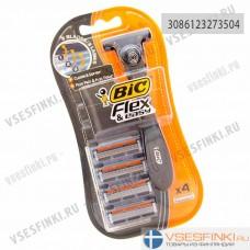 Станок Bic Flex&Easy с 4 сменными кассетами 1шт