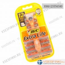 Станок Bic Extra Life 3 с 12 сменными кассетами 1шт