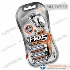 Станки Bic Flex 5 с 4 сменными кассетами 1шт