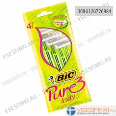 Станки BIC Pure 3Lady одноразовые 4шт