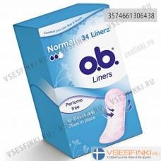 Ежедневные прокладки O.B. Liners Normal 34шт