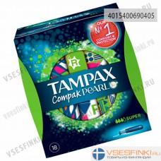 Тампоны Tampax Compak Pearl Super 18шт