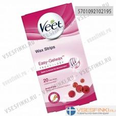 Восковые полоски Veet для удаления волос 20шт
