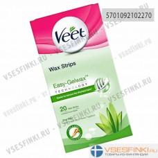Восковые полоски Veet для удаления волос для сухой кожи 20шт