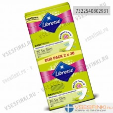 Ежедневные прокладки Libresse SoSlim 2*30шт
