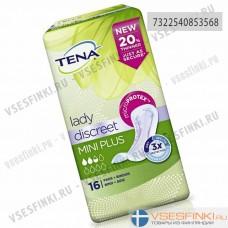 Урологические прокладки TENA lady Discreet Mini Plus 16шт