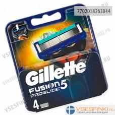 Сменные кассеты Gillette Fusion ProGlide 4шт