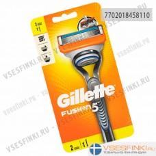 Станок Gillette Fusion5 с 2 сменными кассетами 1шт