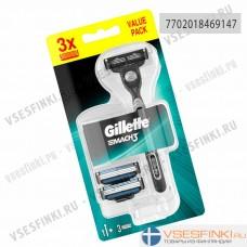 Станки Gillette Mach3 с 3 сменными кассетами 1шт
