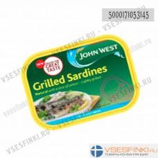 Жареные сардины John West с лимоном 100гр