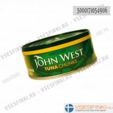 Тунец John West в подсолнечном масле 160/112гр